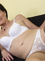 This naughty housewife loves masturbating