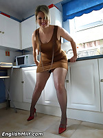 English MILF - UK big ass milf wife in stockings & uniforms