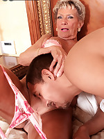 60 Plus MILFs - A Birthday Facial For Sandra Ann - Sandra Ann (39 Photos)