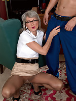 50 Plus MILFs - The horny boss lady and the cleaning man - Cheyanne (63 Photos)